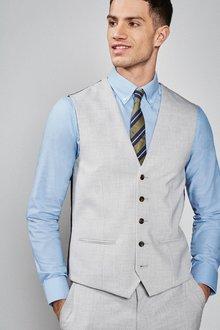 Next Stretch Marl Suit: Waistcoat - 239994