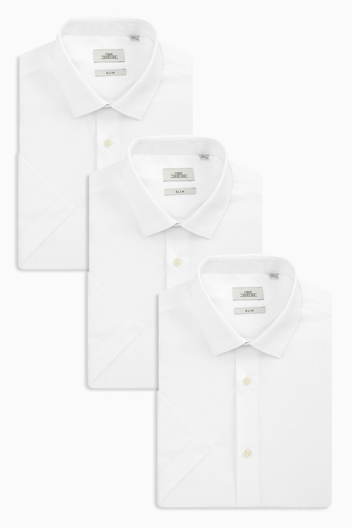 Next Shirts Three Pack- Regular Fit Short Sleeve