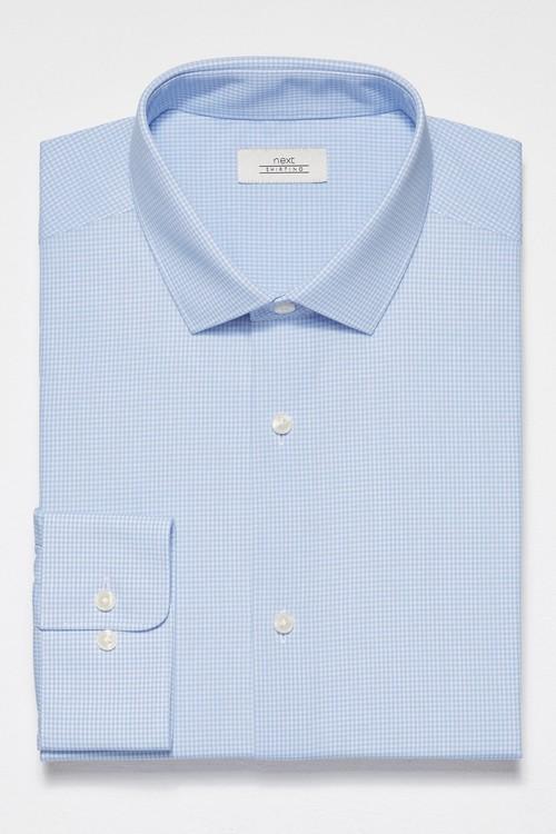 Next Stripe And Textured Shirts Three Pack- Regular Fit Single Cuff