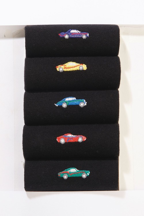 Next Car Embroidery Socks Five Pack