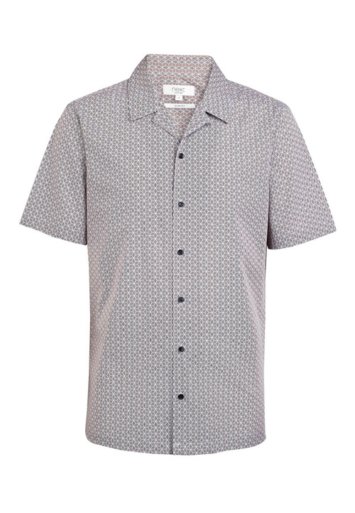 Next Geo Print Short Sleeve Shirt