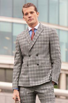 Next Check Suit: Jacket- Slim Fit