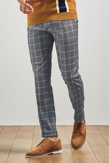 Next Check Skinny Fit Trousers - 240053