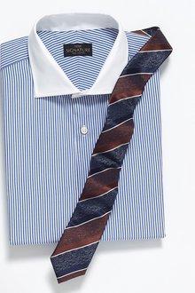 Next Textured Stripe Tie