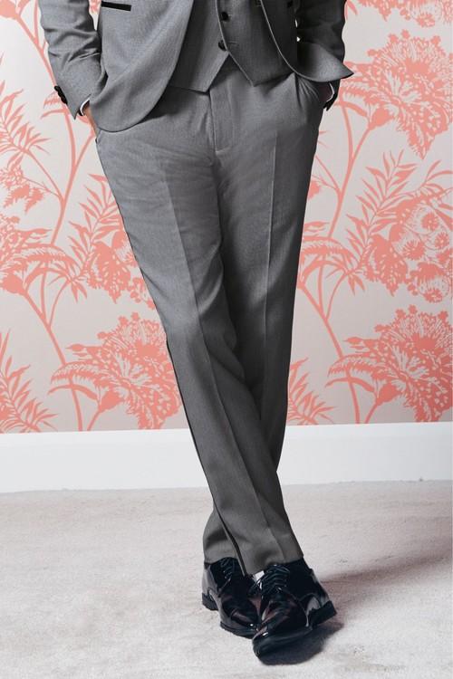 Next Textured Tuxedo Suit: Trousers