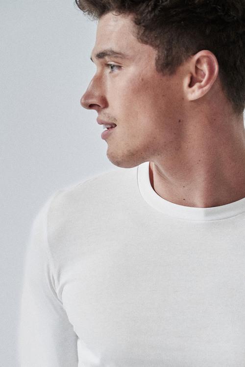 Next Long Sleeve Crew Neck T-Shirt- Slim Fit