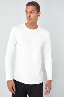 Next Long Sleeve Crew Neck T-Shirt- Slim Fit - 240076