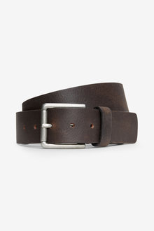Next Signature Italian Leather Tab Stitch Belt