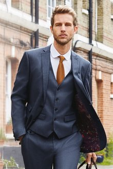 Next Textured Suit: Jacket- Skinny Fit