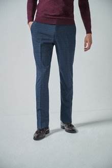 Next Check Suit: Trousers- Regular Fit