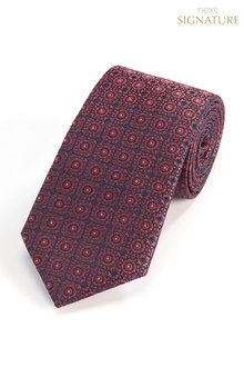 Next Signature 'Made In Italy' Crest Silk Tie