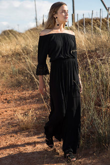 Urban Off the Shoulder Maxi Dress - 240116