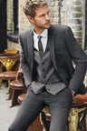Next Textured Suit: Trousers- Tailored Fit