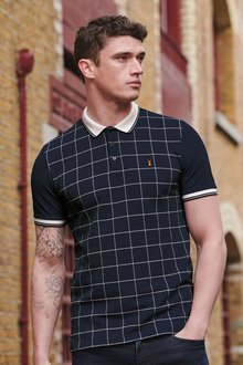 Next Windowpane Check Polo