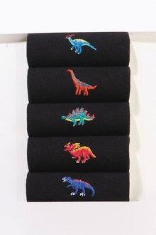 Next Dinosaur Embroidery Socks Five Pack