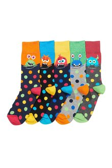 Next Monster And Spot Socks Five Pack