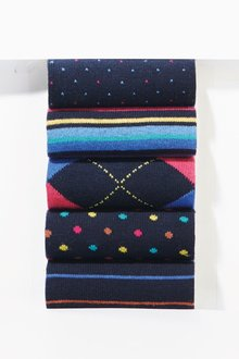Next Mixed Pattern Socks Five Pack