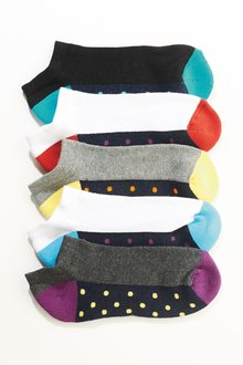Next Spot Terry Trainer Socks Five Pack