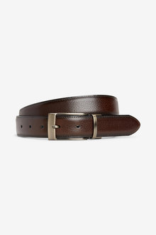 Next Reversible Leather Edge Stitched Belt