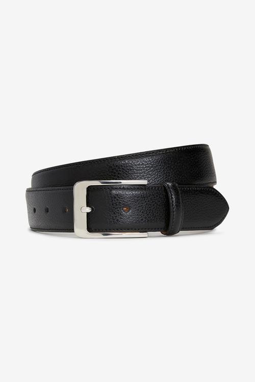 Next Signature Italian Leather Edge Stitched Belt