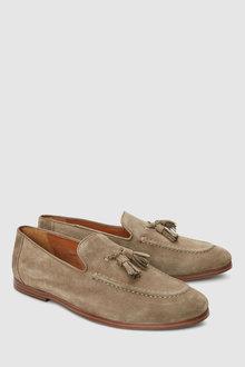 Next Leather Suede Tassel Loafer