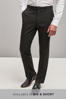 Next Plain Front Trousers With Teflon Finish-Slim Fit