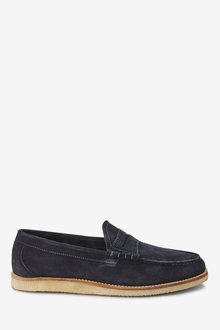 Next Suede Wedge Sole Loafer