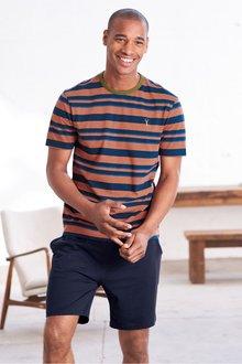 Next Stripe Jersey Short Pyjama Set