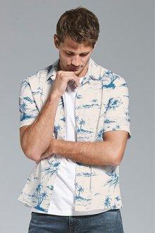 Next Hawaiian Island Print Regular Fit Shirt