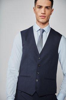 Next Textured Suit: Waistcoat - 240241