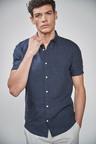 Next Short Sleeve Linen Shirt