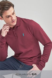 Next Long Sleeve Pique Polo