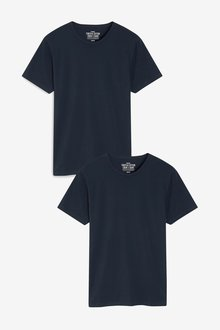 Next Stretch Cotton Blend T-Shirts Two Pack