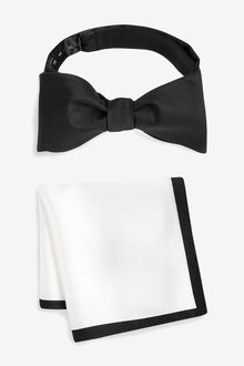 Next Signature Self-Tie Bow Tie And Pocket Square Set - 240282