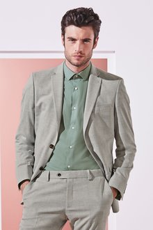 Next Stretch Marl Suit: Jacket- Slim Fit - 240287