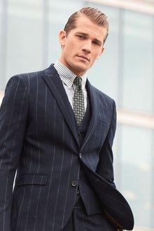 Next Stripe Suit: Waistcoat - 240305