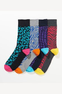 Next Animal Print Pattern Socks Four Pack