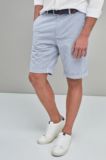 Next Stripe Belted Shorts