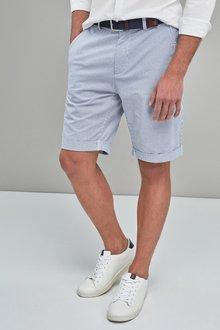 Next Stripe Belted Shorts