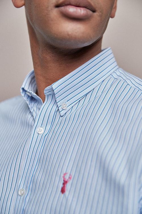 Next Regular Fit Stripe Stag Shirt