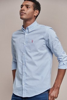 Next Regular Fit Stripe Stag Shirt - 240322