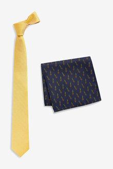 Next Tie And Conversational Print Pocket Square Set