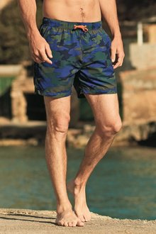 Next Camo Print Swim Shorts