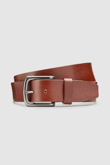 Next Creased Effect Leather Belt