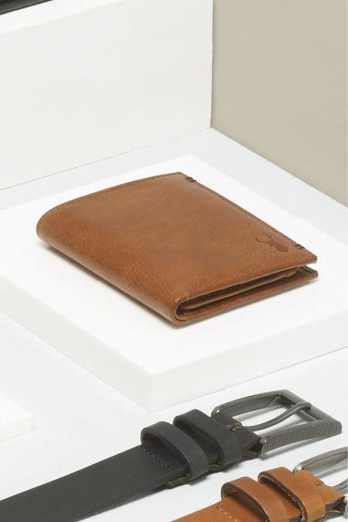 Next Leather Tab Stitch Wallet