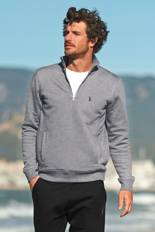 Next Sweat Zip Neck Pullover