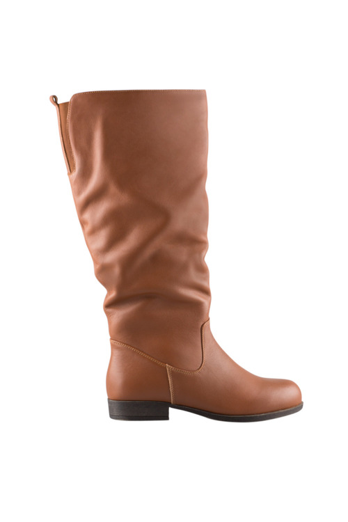 Wide Fit Mia Leather Leg Boot
