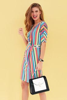 Heine Rainbow Jersey Dress - 240459