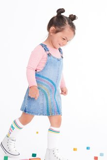 Next Rainbow Pinafore Set (3mths-7yrs)