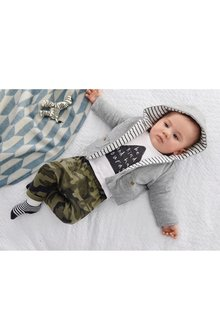 Next Slogan T-Shirt And Camouflage Joggers Set (0mths-2yrs)
